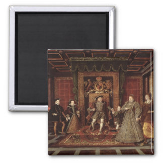 The Family of Henry VIII: Square Magnet