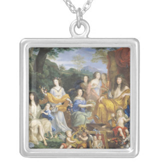 The Family of Louis XIV  1670 2 Silver Plated Necklace