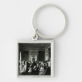The Family of Queen Victoria, 1887 Silver-Colored Square Key Ring