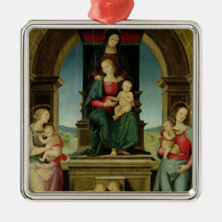 The Family of St. Anne, c.1507 Silver-Colored Square Decoration