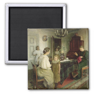The Family of the Artist, 1895 Square Magnet