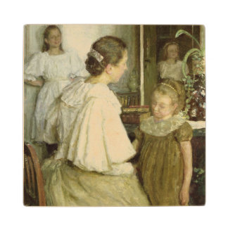 The Family of the Artist, 1895 Wood Coaster