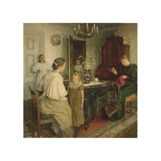 The Family of the Artist, 1895 Wood Print