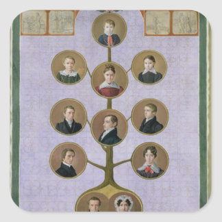 The Family of the Baker, Jochann Square Sticker