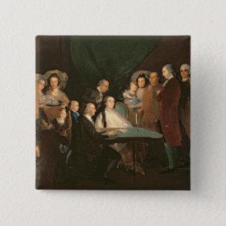 The Family of the Infante Don Luis de Borbon 15 Cm Square Badge
