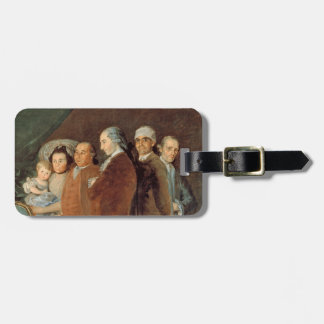 The Family of the Infante Don Luis de Borbon Luggage Tag