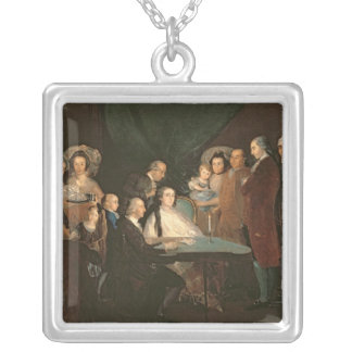The Family of the Infante Don Luis de Borbon Silver Plated Necklace