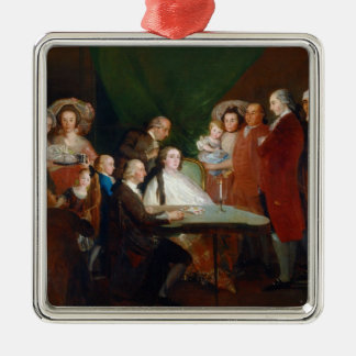 The Family of the Infante Don Luis Francisco Goya Silver-Colored Square Decoration
