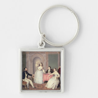 The Family of the Marquis Giuseppe Sigismondo Ala Silver-Colored Square Key Ring