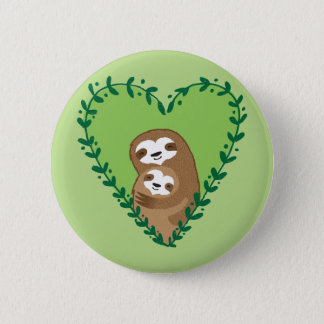 The Family Sloth 6 Cm Round Badge