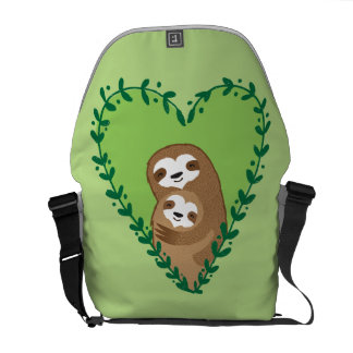 The Family Sloth Courier Bags