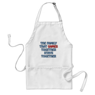The Family That Games Together Adult Apron