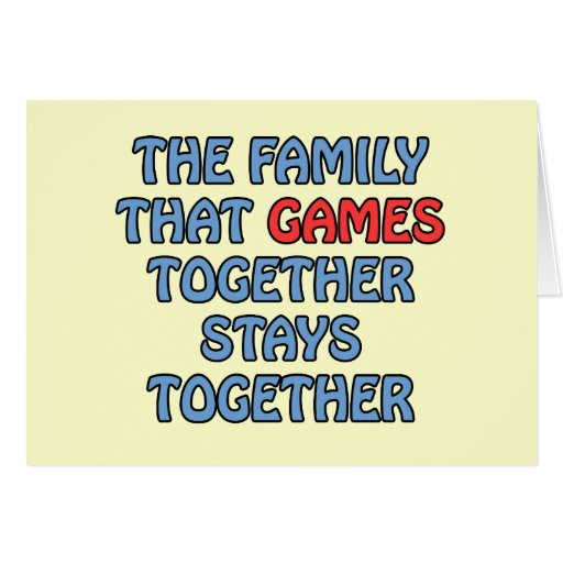 The Family That Games Together Greeting Card