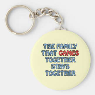 The Family That Games Together Key Chains