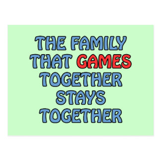 The Family That Games Together Postcard