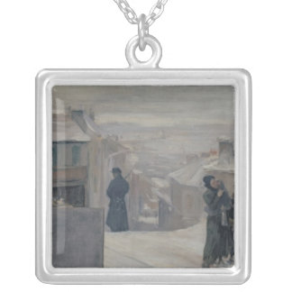 The Famine between 1870-71, 1889 Silver Plated Necklace