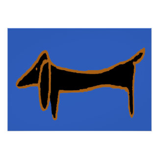The Famous Black Dachshund Poster