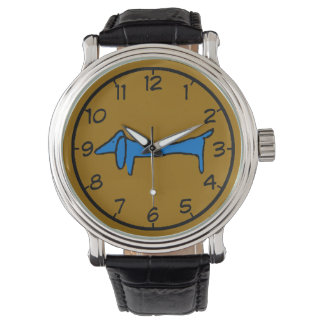 The Famous Blue Dog Dachshund Wristwatches