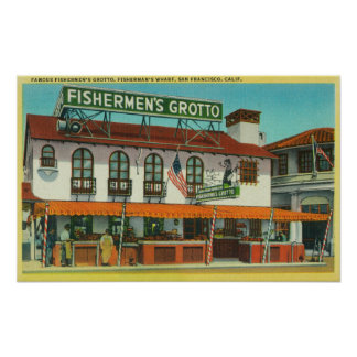 The Famous Fisherman's Grotto Bldg Poster