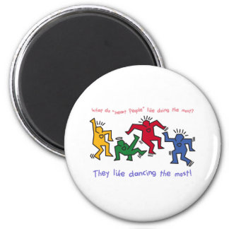 The Famous Heart People Dancing of Joy 6 Cm Round Magnet