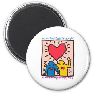 The Famous Heart People Dancing of Joy Fridge Magnets