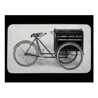 The Famous James Vintage Delivery Bicycle Postcard