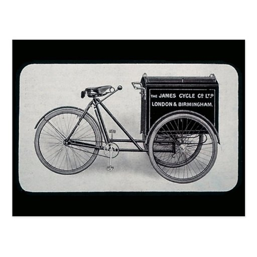 The Famous James Vintage Delivery Bicycle Post Cards