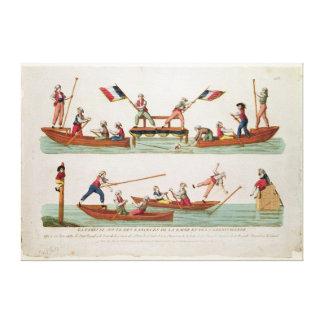 The Famous Joust between the Lancers Canvas Prints