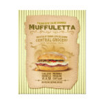 The Famous Muffuletta Sandwich Gallery Wrapped Canvas
