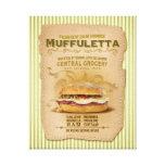 The Famous Muffuletta Sandwich Canvas Prints