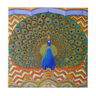 The Famous Peacock Gate Small Square Tile