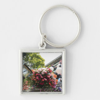 The famous Steam Clock in Gastown - Vancouver, Silver-Colored Square Key Ring