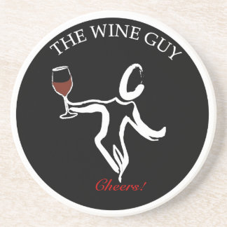 The Famous Wine Guy Logo Coaster