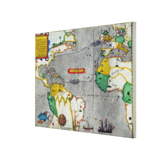 The famouse West Indian voyadge made by the Englis Canvas Print