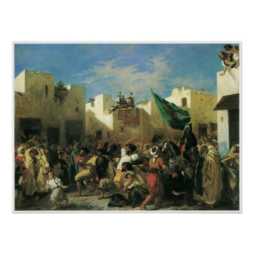 The Fanatics of Tangier, 1838 Poster