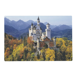 The fanciful Neuschwanstein is one of three Laminated Place Mat