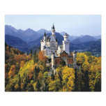 The fanciful Neuschwanstein is one of three Photographic Print
