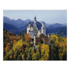 The fanciful Neuschwanstein is one of three Poster