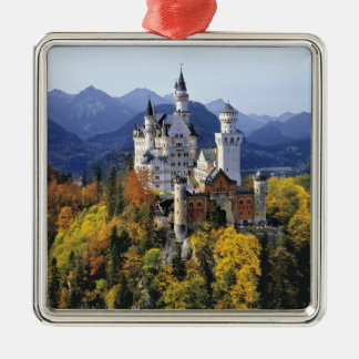 The fanciful Neuschwanstein is one of three Silver-Colored Square Decoration