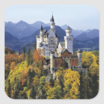 The fanciful Neuschwanstein is one of three Square Sticker