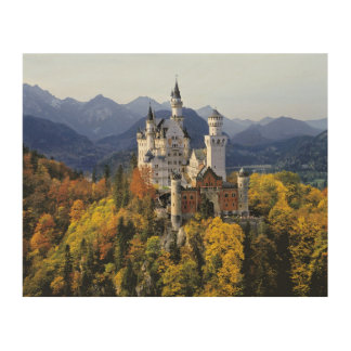 The fanciful Neuschwanstein is one of three Wood Wall Decor