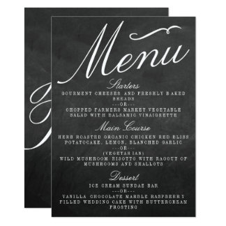 The Fancy Chalkboard Wedding Collection Menu Cards 11 Cm X 16 Cm Invitation Card