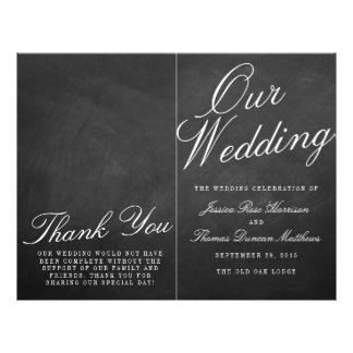 The Fancy Chalkboard Wedding Collection Programs 21.5 Cm X 28 Cm Flyer