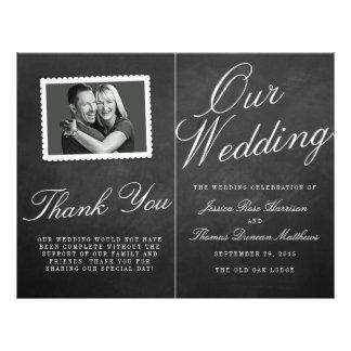 The Fancy Chalkboard Wedding Collection Programs Flyer