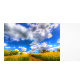 The Farm Art Vista Custom Photo Card