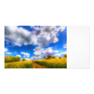 The Farm Art Vista Personalised Photo Card