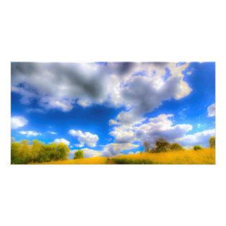 The Farm Art Vista Personalized Photo Card