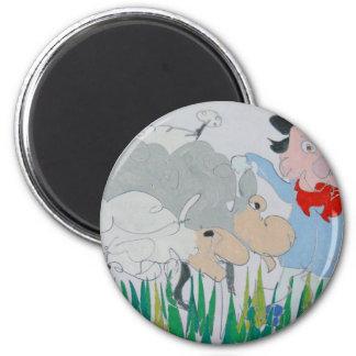 The Farmer 6 Cm Round Magnet
