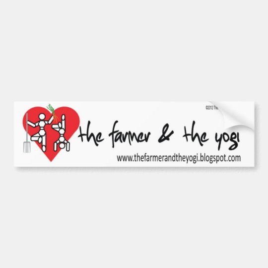 The Farmer and The Yogi Logo Bumper Sticker
