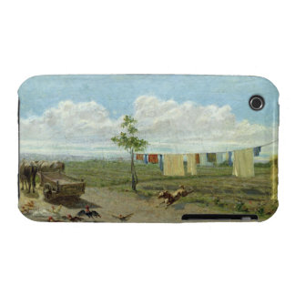 The Farmyard (oil on canvas) Case-Mate iPhone 3 Case